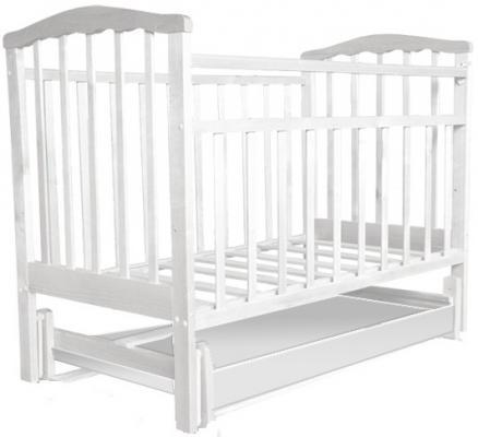Кроватка с маятником Агат Золушка-4 (белый)