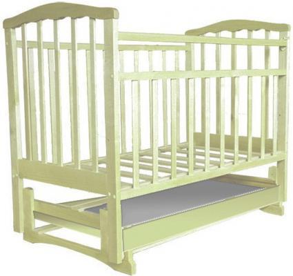 Кроватка с маятником Золушка-6 (слоновая кость)