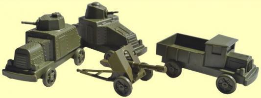 Игровой набор Форма Броневички 4 шт 29 см зеленый  С-176-Ф