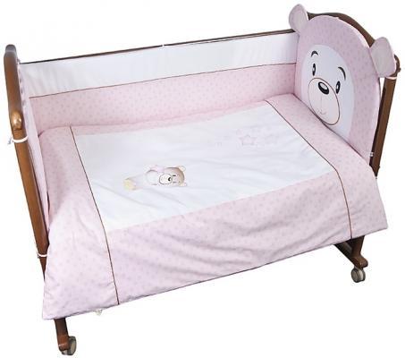 Постельный сет 4 предмета Сонный Гномик Умка (розовый)