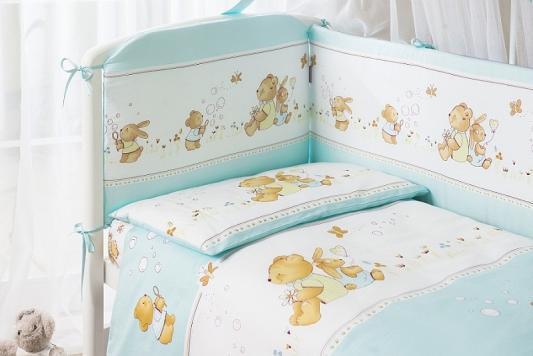 Постельный сет 7 предметов Перина Фея Лето (голубой) постельный сет 7 предметов перина венеция три друга белый