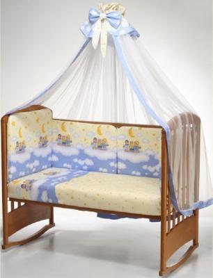Постельный сет 7 предметов Перина Аманда Ночка (голубой) постельный сет 4 предмета перина фея лето розовый