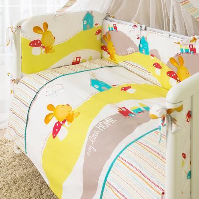 Постельный сет 7 предметов Перина Кроха Веселый кролик (белый) комплект постельного белья perina кроха веселый кролик к3 02 0