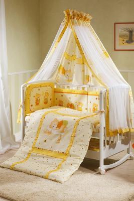 Постельный сет 7 предметов Перина Ника Мишка на подушке (бежевый) постельный сет 7 предметов перина венеция три друга белый