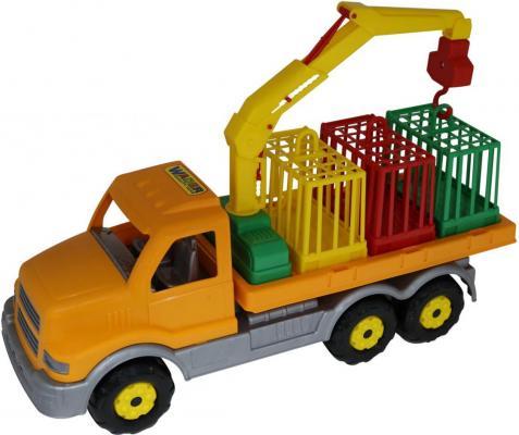 Автомобиль Полесье для перевозки зверей 47,5 см разноцветный 44204 конструктор bela автомобиль для перевозки заключённых 60043 10418