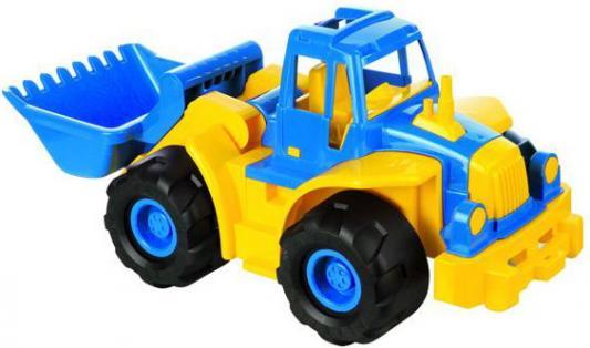 Трактор Нордпласт Богатырь с грейдером разноцветный 68 см машинка игрушечная нордпласт трактор ангара с грейдером и ковшом