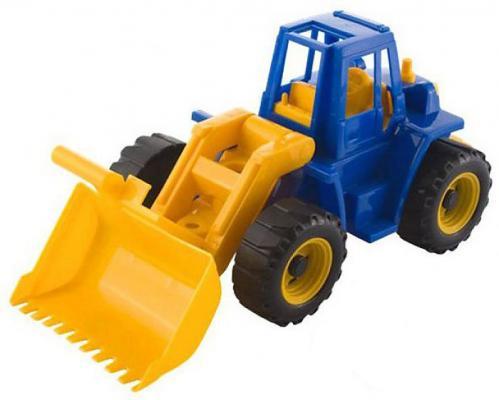 Трактор Нордпласт Байкал с грейдером разноцветный 35.5 см машинка игрушечная нордпласт трактор байкал с грейдером