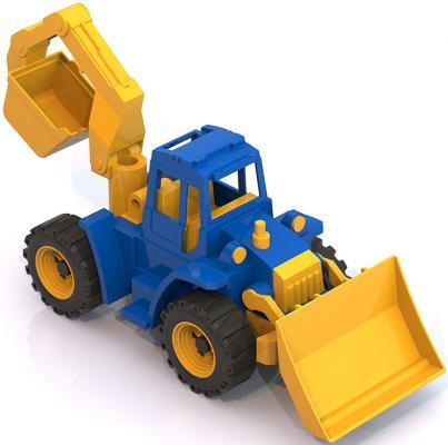 Трактор Нордпласт Ангара с грейдером и ковшом разноцветный 40 см 141