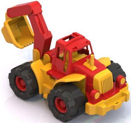 все цены на Трактор Нордпласт Богатырь с ковшом разноцветный 50.5 см онлайн