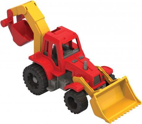 Трактор Нордпласт Ижора с грейдером и ковшом 152 разноцветный в ассортименте 106335