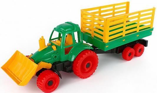 Трактор Нордпласт с грейдером и прицепом разноцветный 58 см