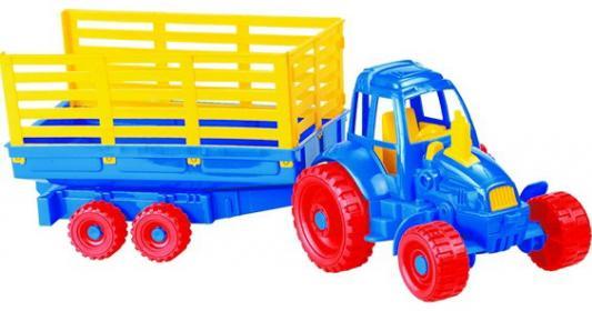 Трактор Нордпласт с прицепом разноцветный 54 см