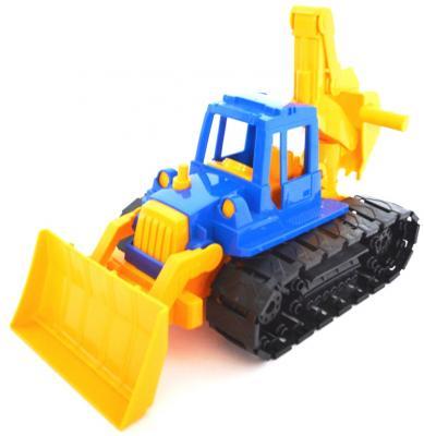 купить Трактор Нордпласт Байкал с грейдером и ковшом разноцветный 40 см 139 по цене 390 рублей