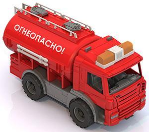 Цистерна Нордпласт Огнеопасно Спецтехника красный 43 см 206 машины нордпласт мусоровоз спецтехника