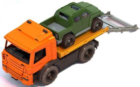 Эвакуатор Нордпласт с машиной Спецтехника 42 см разноцветный  205 машина нордпласт эвакуатор с машиной 205h