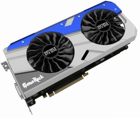 Видеокарта 8192Mb Palit GeForce GTX1070 Gamerock Prem PCI-E 256bit GDDR5 DVI HDMI HDCP DP NE51070H15P2-1041G Retail