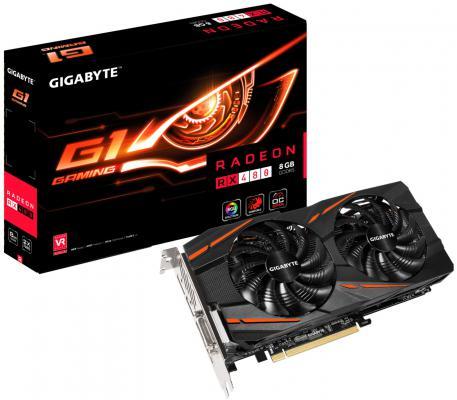 Видеокарта 8192Mb Gigabyte RX 480 PCI-E HDMI DPx3 DVI HDCP GV-RX480G1 GAMING-8GD Retail