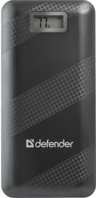 Портативное зарядное устройство Defender Lavita 20000 5V/2А USB 20000 mAh черный 83635 зарядное устройство duracell cef14 аккумуляторы 2 х aa2500 mah 2 х aaa850 mah