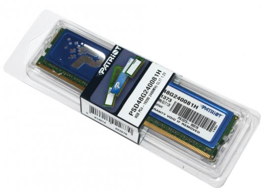 Оперативная память 8Gb PC4-19200 2400MHz DDR4 DIMM Patriot PSD48G240081H