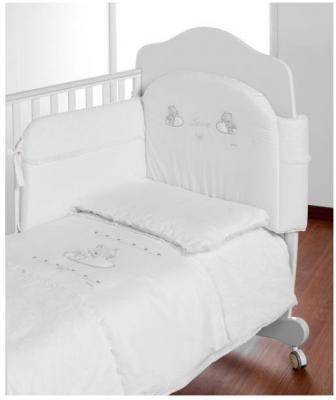 Постельный сет 5 предметов Italbaby Love (белый/720.0082-5) постельный сет italbaby teddy крем 100 0019 6