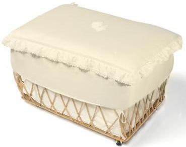 Плетеная корзина с крышкой Italbaby Love ивовые прутья кремовый 630,0040-6