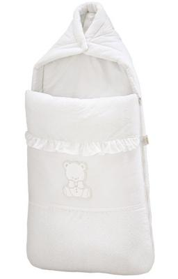 Конверт на молнии 40х80см для коляски Italbaby Amore (белый/735.0082-5) italbaby плетеный ящик для игрушек amore italbaby белый