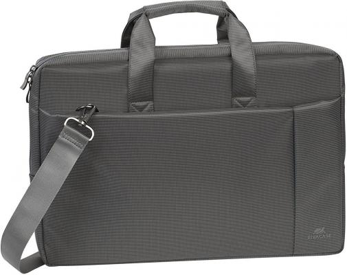 Сумка для ноутбука 17 Riva case 8251 полиэстер синтетика серый сумка для dslr камер riva 7228 black red