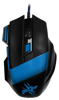 купить Мышь проводная Oklick 775G чёрный синий USB онлайн