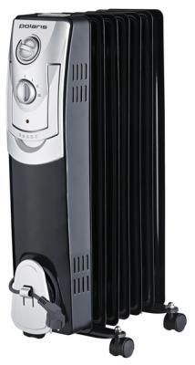 Масляный радиатор Polaris PRE B 0715 — термостат белый чёрный обогреватель polaris cr c 0715 белый черный