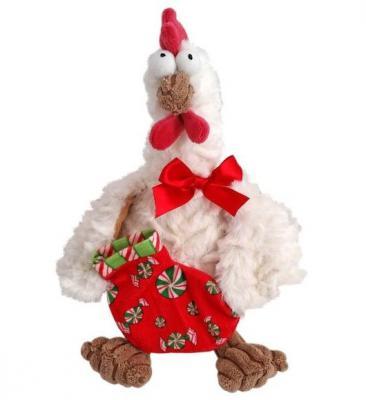 Мягкая игрушка петух Fluffy Family Петух новогодний текстиль плюш белый 22 см 6927346812323