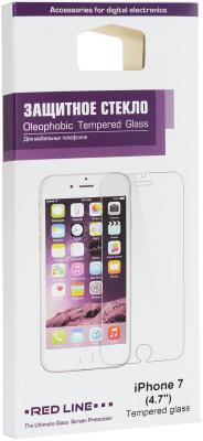 Защитное стекло Red Line для Apple iPhone 7 УТ000009670 защитное стекло red line для apple iphone 6 6s 7 глянцевое