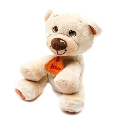 Мягкая игрушка медведь Fluffy Family Мишка Тепа текстиль плюш бежевый 21 см 6927556811499