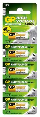 Батарейка GP Super Alkaline 23AF MN21 5 шт батарейка крона gp super alkaline 1604а 6lf22 bc1