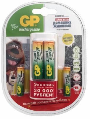 цена на Зарядное устройство + аккумуляторы GPBI GP U211100/40SEFR-2CR4 1000 мАч AA/AAA 4 шт