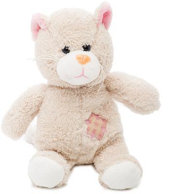 Мягкая игрушка котенок Fluffy Family Котик Малыш искусственный мех текстиль бежевый 19 см 6927556811345