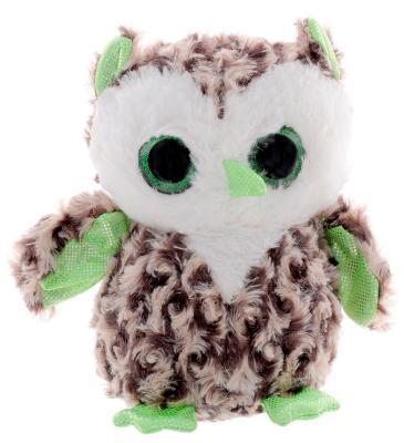 Мягкая игрушка сова Fancy Сова глазастик искусственный мех разноцветный 20 см 4812501123999