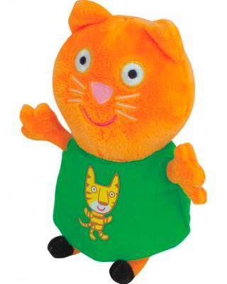 Мягкая игрушка кошка Росмэн Кенди с тигром плюш текстиль рыжий зеленый 20 см 4680274019340
