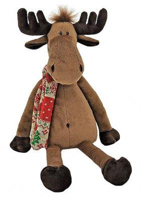 Мягкая игрушка лось ОРАНЖ Лось Мягкая Йохан текстиль плюш коричневый 38 см 6938802870092