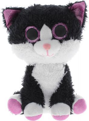 Мягкая игрушка кот Fancy Котик глазастик искусственный мех плюш белый черный 20 см 4812501123982