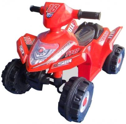 Квадроцикл эл., Пламенный мотор красный, аккум 6V/4AH,18W