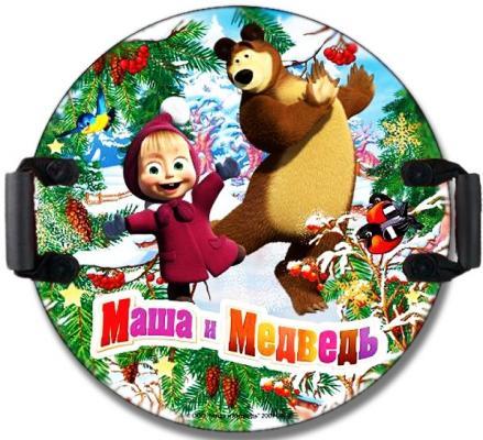 Ледянка 1toy Маша и Медведь рисунок пластик Т59046