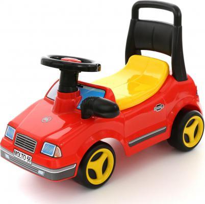 Каталка-машинка Полесье Вихрь с гудком пластик от 1 года на колесах красный  7994