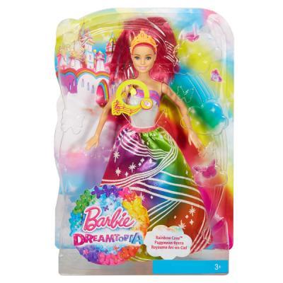 все цены на Кукла Barbie (Mattel) Barbie Радужная принцесса с волшебными волосами в ассортименте DPP90