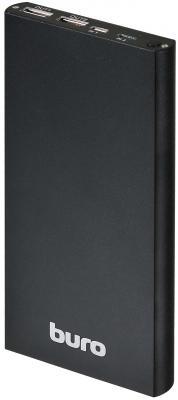 Портативное зарядное устройство Buro RA-12000-AL-BK 12000мАч черный портативное зарядное устройство buro ra 8000 8000мач черный