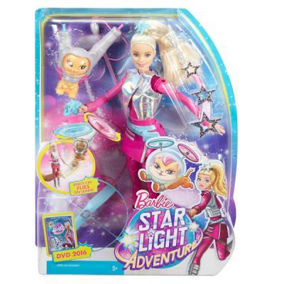 Кукла Mattel Barbie с летающим котом Попкорном из серии Barbie и космические приключения