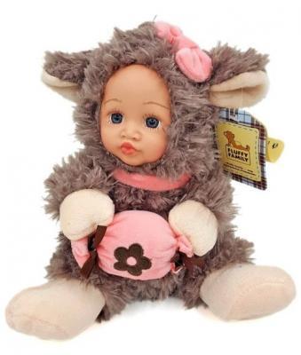 Мягкая игрушка ягненок Fluffy Family Мой ягненок искусственный мех пластик разноцветный 6927346812354