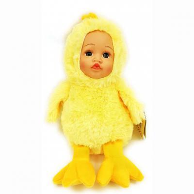 Мягкая игрушка цыпленок Fluffy Family Мой цыпленок пластик искусственный мех желтый 6927346812446