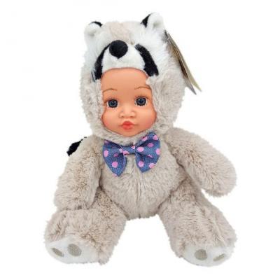 Мягкая игрушка енот Fluffy Family Крошка енот пластик текстиль искусственный мех серый 6927346812422