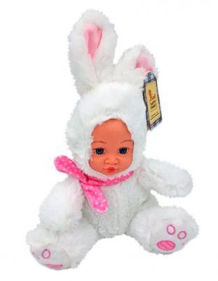 Мягкая игрушка заяц Fluffy Family Мой зайка белый искусственный мех плюш текстиль пластик 681234