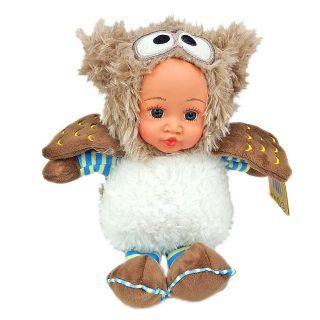 Мягкая игрушка сова Fluffy Family Мой совенок разноцветный пластик искусственный мех 681233 fluffy animals
